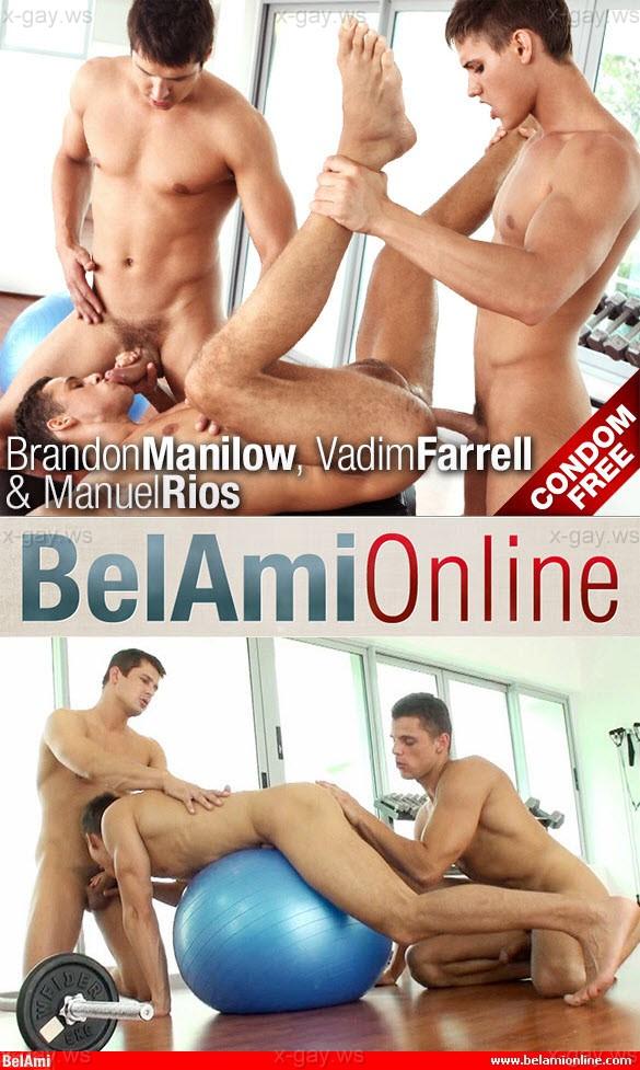 BelAmiOnline – Brandon Manilow, Manuel Rios & Vadim Farrell, Bareback