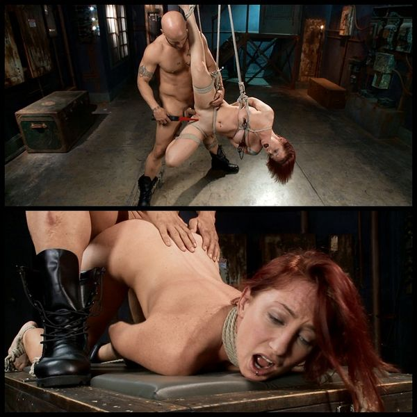(04.04.2014) FB – Newbie gets brutally fucked in tight bondage