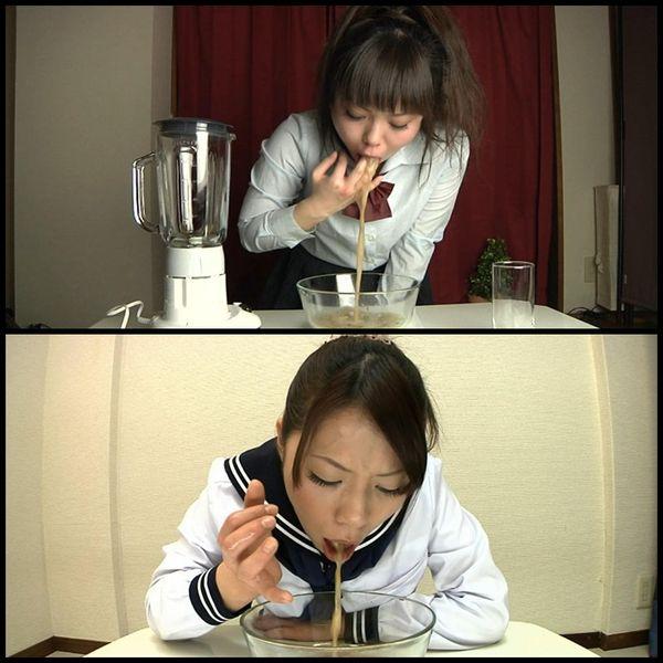 Japanisches Schulmädchen Vomit
