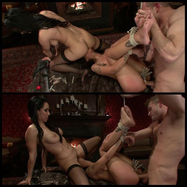 (14.02.2014) Kinky Couple Convert Lesbian into Submissive Whore: Skin Diamond, Isis Love and Bill Bailey