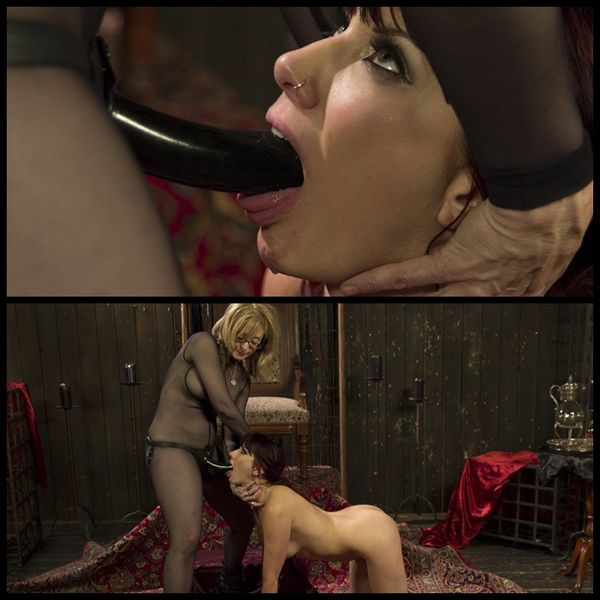(28.03.2014) Retribution: Maitresse Madeline captured, punished and anally pounded by Nina Hartley