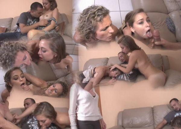 image Virtual taboo mom feeds you and you feeds sis with cock