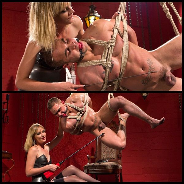 (14.05.2014) Mona Wales Teases and Tortures Electro Slave Boy