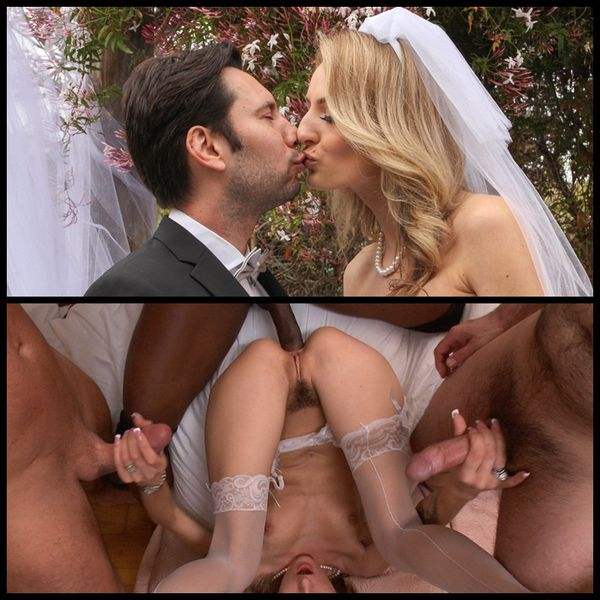 (28.05.2014) Natasha Starr's wedding night gangbang fantasy cums true