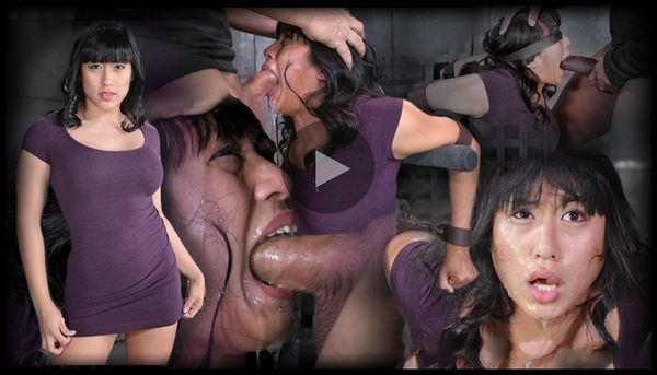 (02.06.2014) SB – Mia Li gets bound and face fucked by BBC, brutal deep throat on 2 dicks, epic throat training